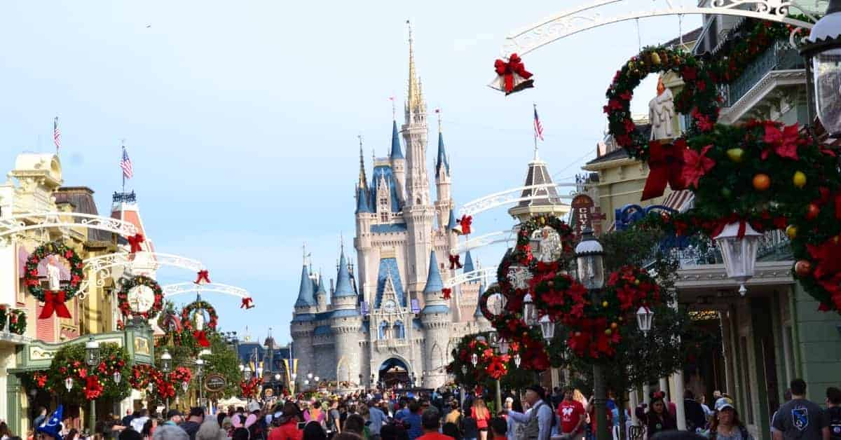 Magic Kingdom at Christmas