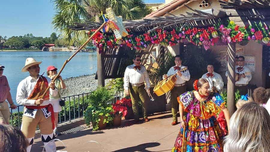 Mariachi Band at Epcot during Christmas