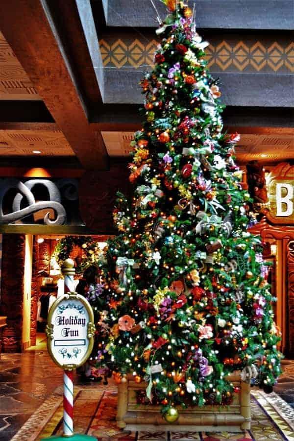 Polynesian Resort Christmas Tree
