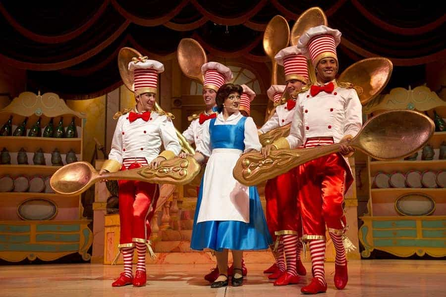 Costumes in the Live Beauty and Beast show at Hollywood Studios