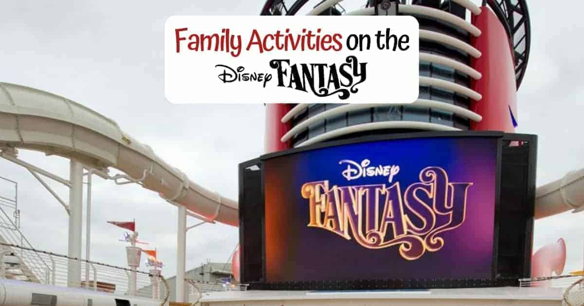 Family Activities on the Disney Fantasy