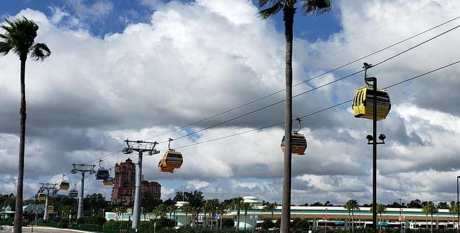 Disney Skyliner going to Hollywood Studios