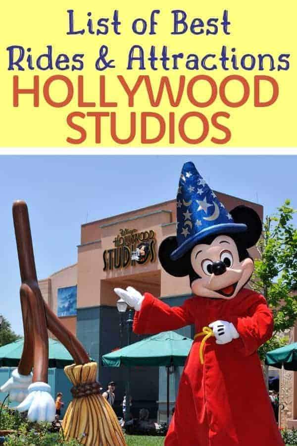 Hollywood Studios Rides & Attractions