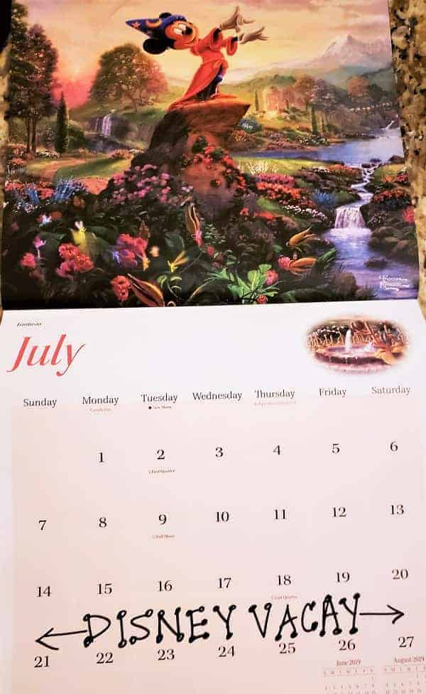 Disney Trip Calendar