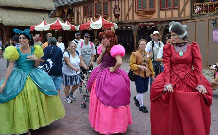 Lady Tremain & Step Sisters in Magic Kingdom