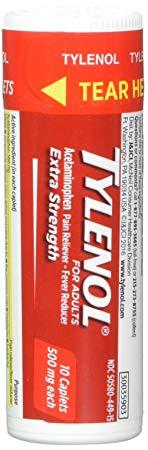 TYLENOL Extra Strength Caplets 10 ea