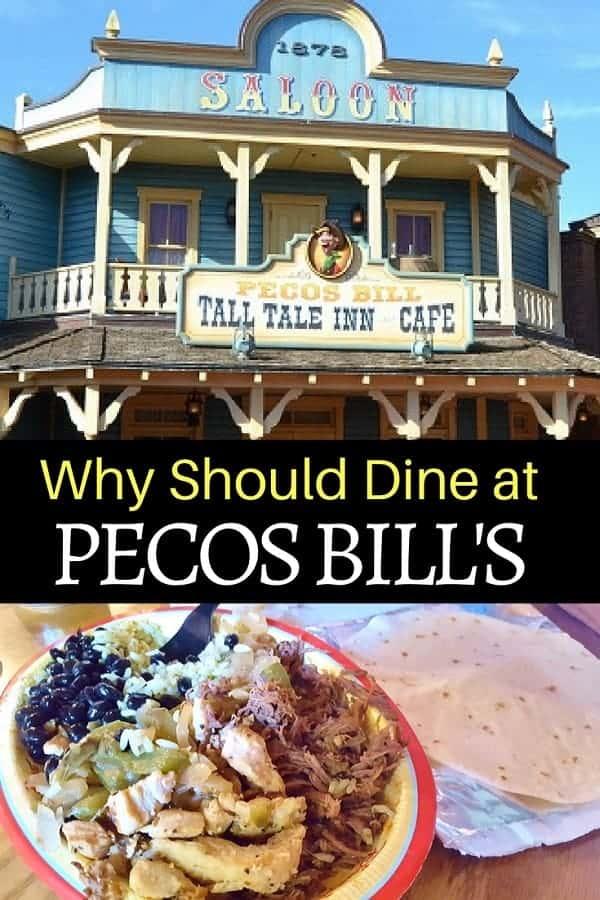 The Pecos Bill Menu has something for Everyone