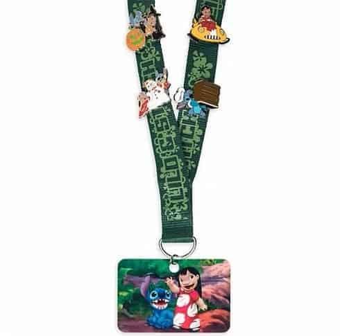 Disney Pin Lanyard with Stitch Pins