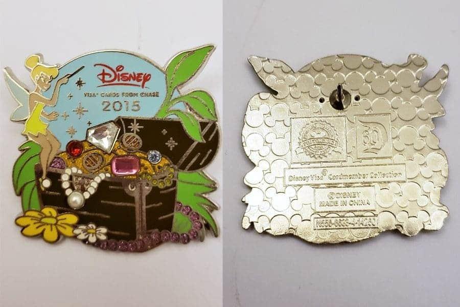 Disney Visa Card Holder Tinkerbell Pin