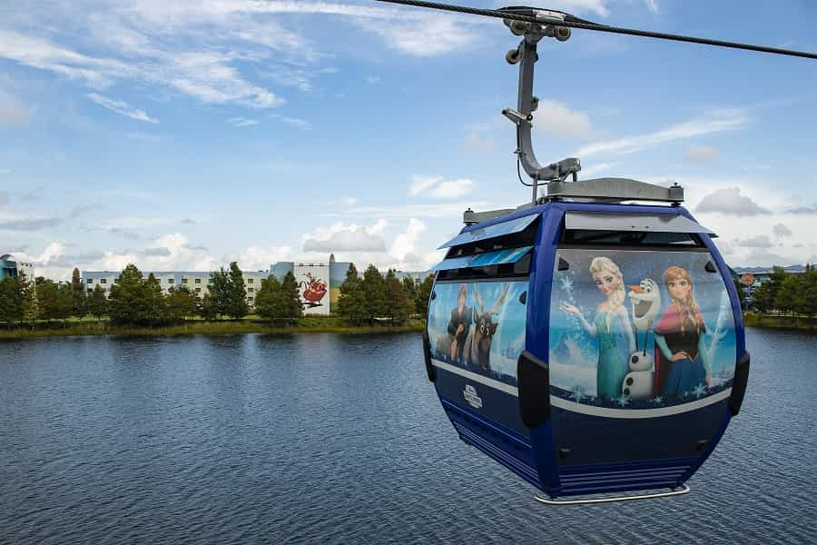 Frozen Skyliner at Disney World