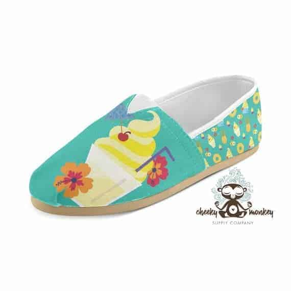 Dole Whip Inspired Custom Canvas Slip-on Shoes