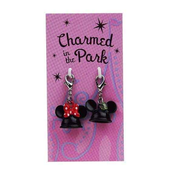 Disney Parks Charmed In The Park Mickey and Minnie Mouse Ear Hat Dangle