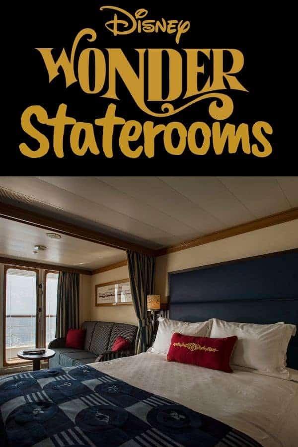 Types of Disney Wonder Staterooms