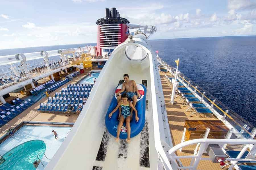 Disney Fantasy Pool Deck & Slide