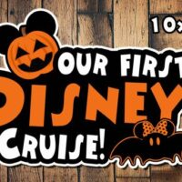 Halloween Disney Cruise Magnet