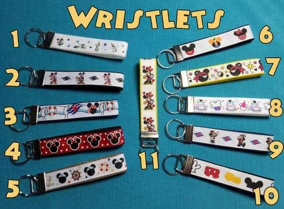 Disney Cruise Key Fob Wristlets