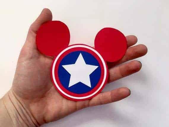 Disney Marvel Captain America Inspired Magnet- Disney Cruise Door Magnet- Marvel Day at Sea Magnet- Fish Extender Gifts Magnet