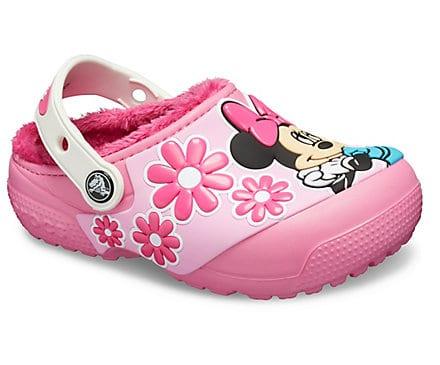 Kids' Crocs Fun Lab Disney Minnie Mouse Lined Clog
