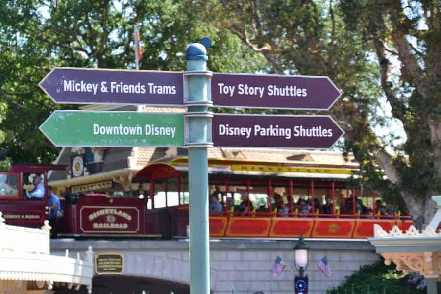 Where you can park in Disneyland