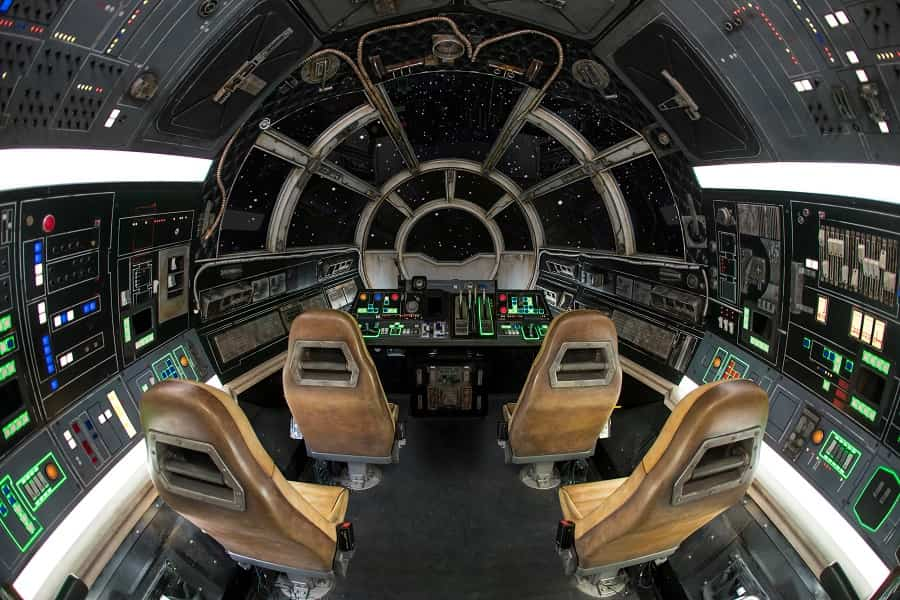 Inside the Millennium Falcon at Disneyland Galaxy Edge