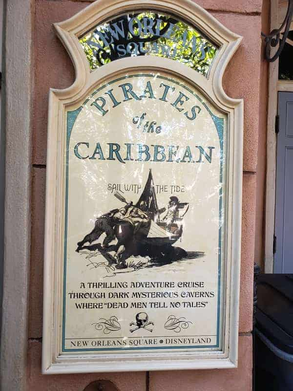 Pirates of the Caribbean Ride in Disneyland