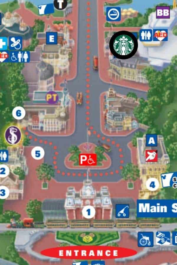 Starbucks Map Magic Kingdom