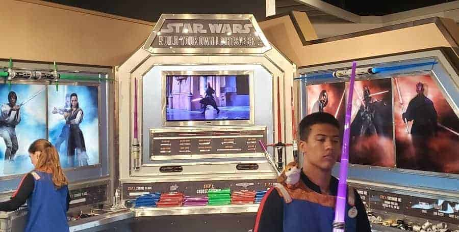 Build your own Lightsaber in Disney World