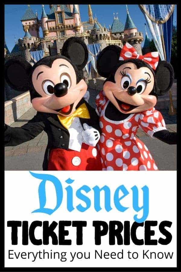 Current Disney Ticket Prices