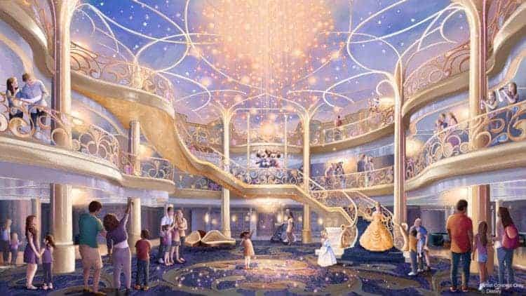 Disney Wish Atrium Rendering