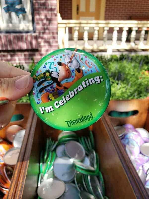 Celebration Buttons at Disneyland