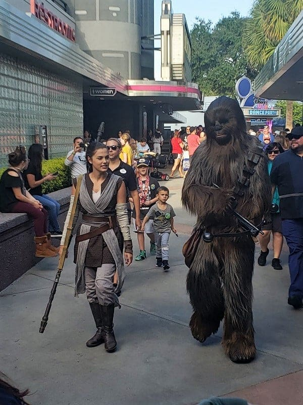 Rey and Chewbacca