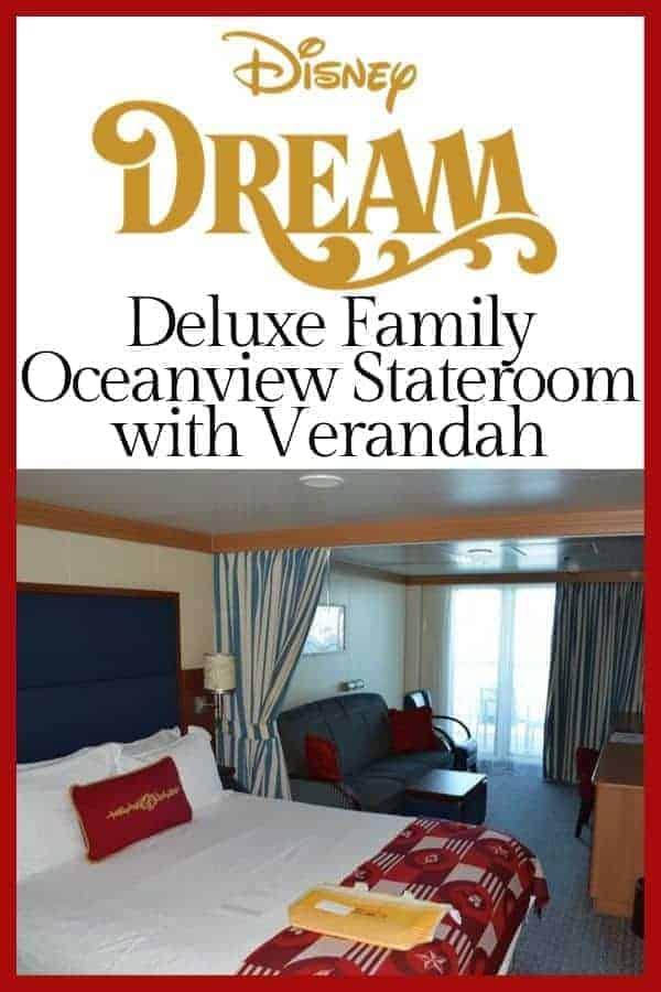 Disney Dream Deluxe family oceanview stateroom with verandah