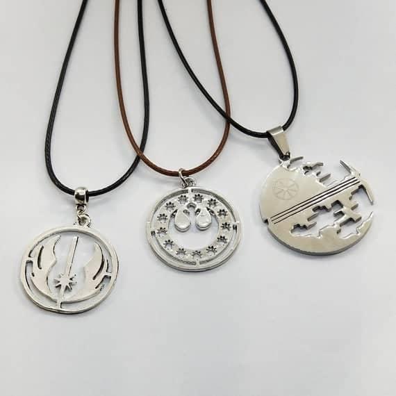 Rebel Alliance Necklace, Death Star Necklace, Jedi Necklace