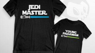 Jedi Master & Young Padawan T-Shirts