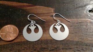 Rebel Swan Star Wars earrings