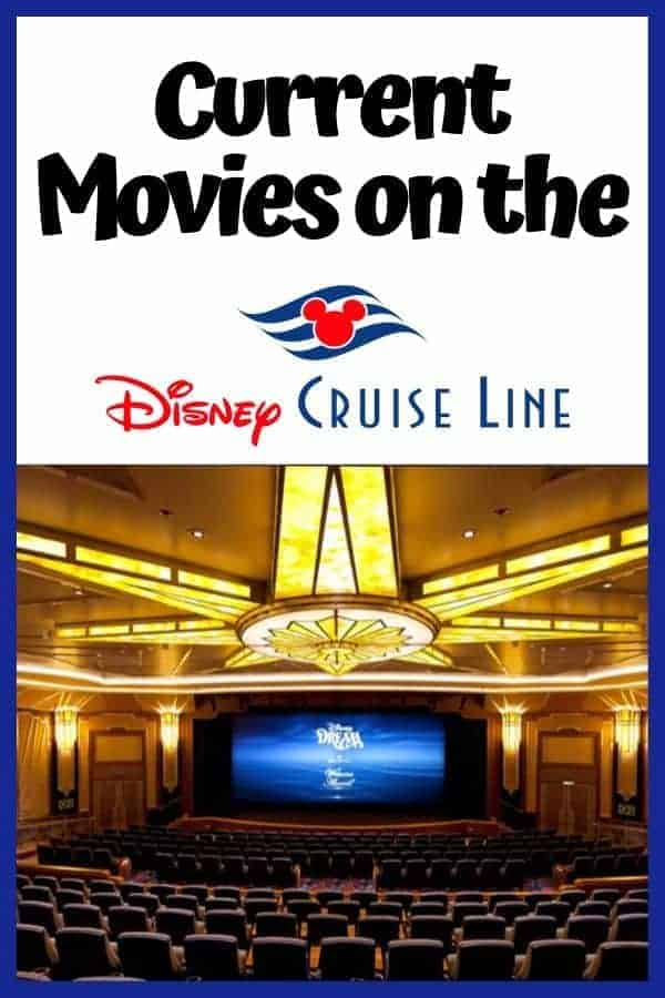 List of Current Movies on the Disney Cruise Line