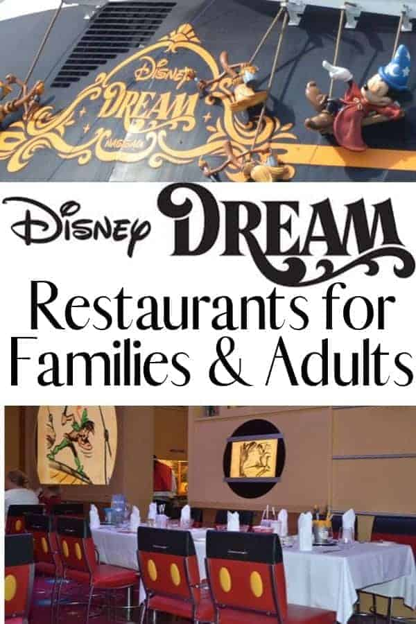 Disney Dream Restaurants for Families and Adults