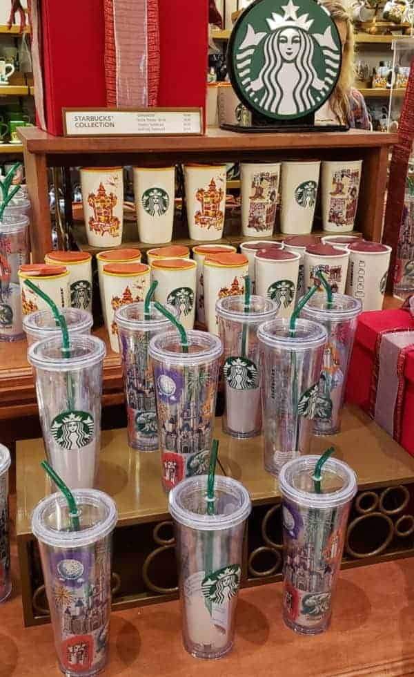 Disney Starbucks Merchandise Display