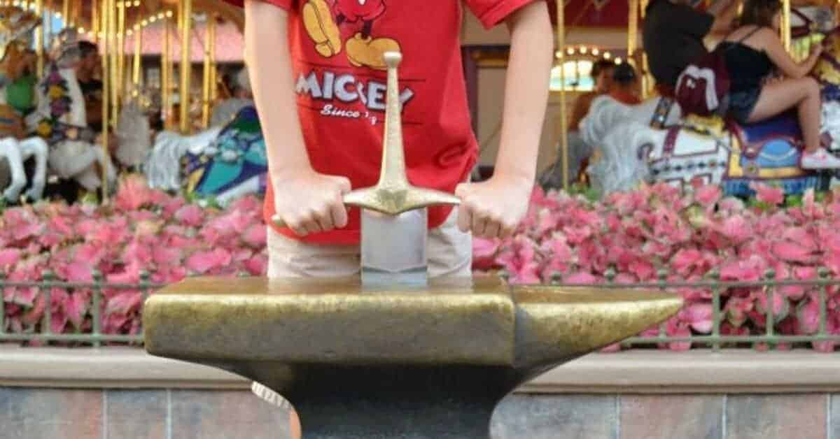 Sword in the Stone at Magic Kingdom