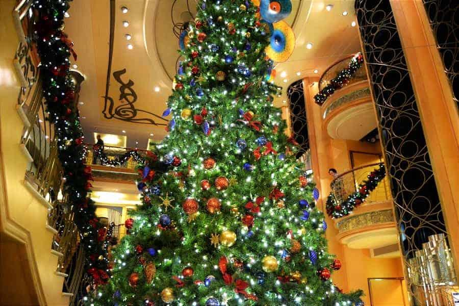 Disney Christmas Cruise Decorations on the Ship