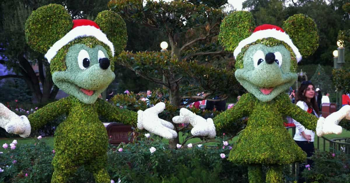 Disney Christmas Topiaries