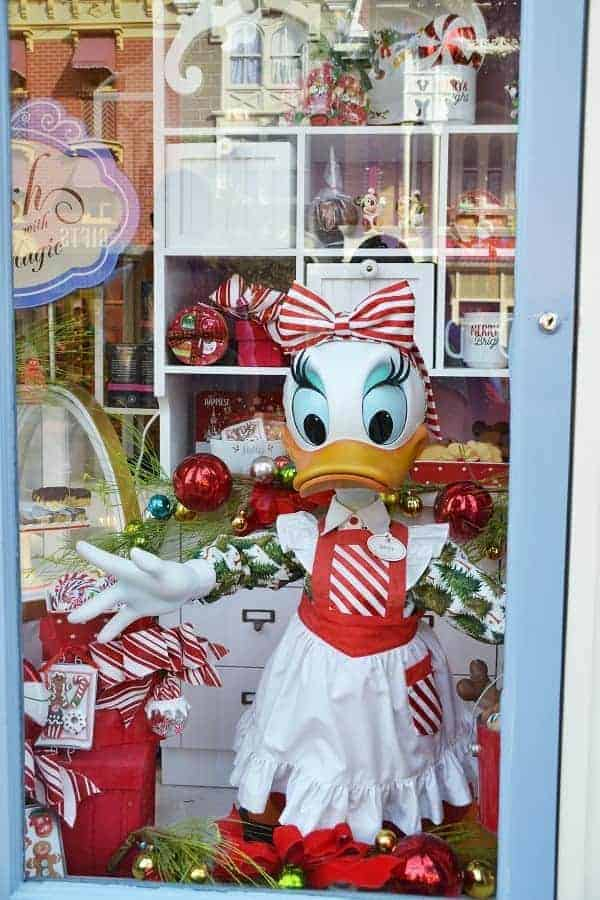 Christmas Window Displays in Magic Kingdom