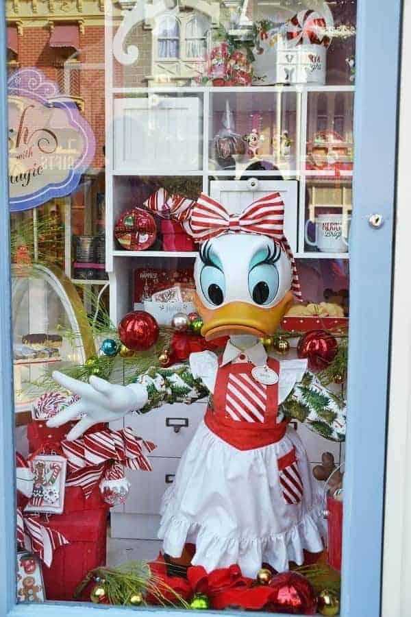 Christmas Window Displays in Magic Kingdom