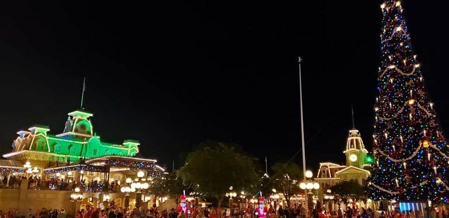 Magic Kingdom at Night during Christmas