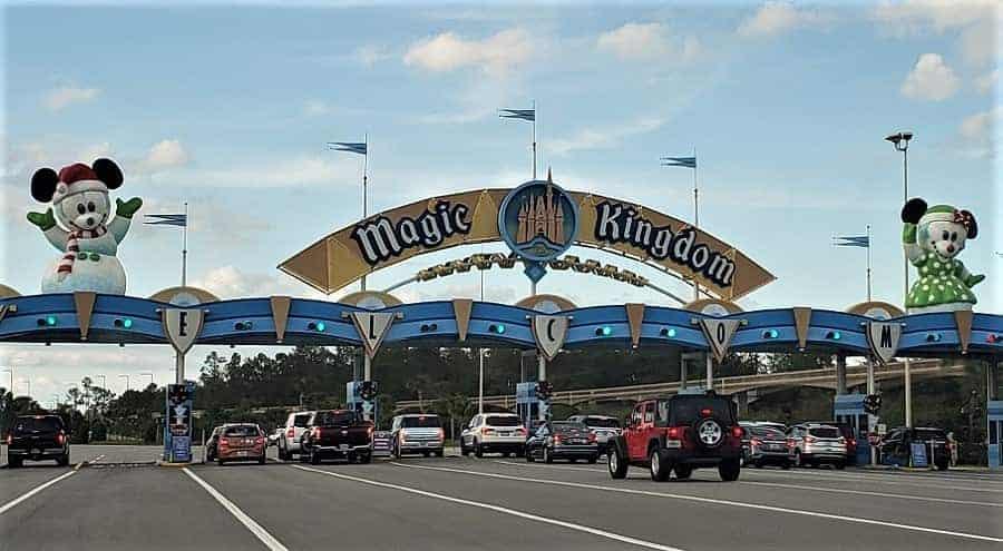 Christmas Magic Kingdom Entrance