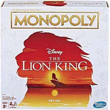 Disney The Lion King Edition Monopoly