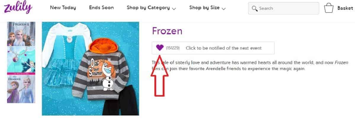 Frozen Collection Sale