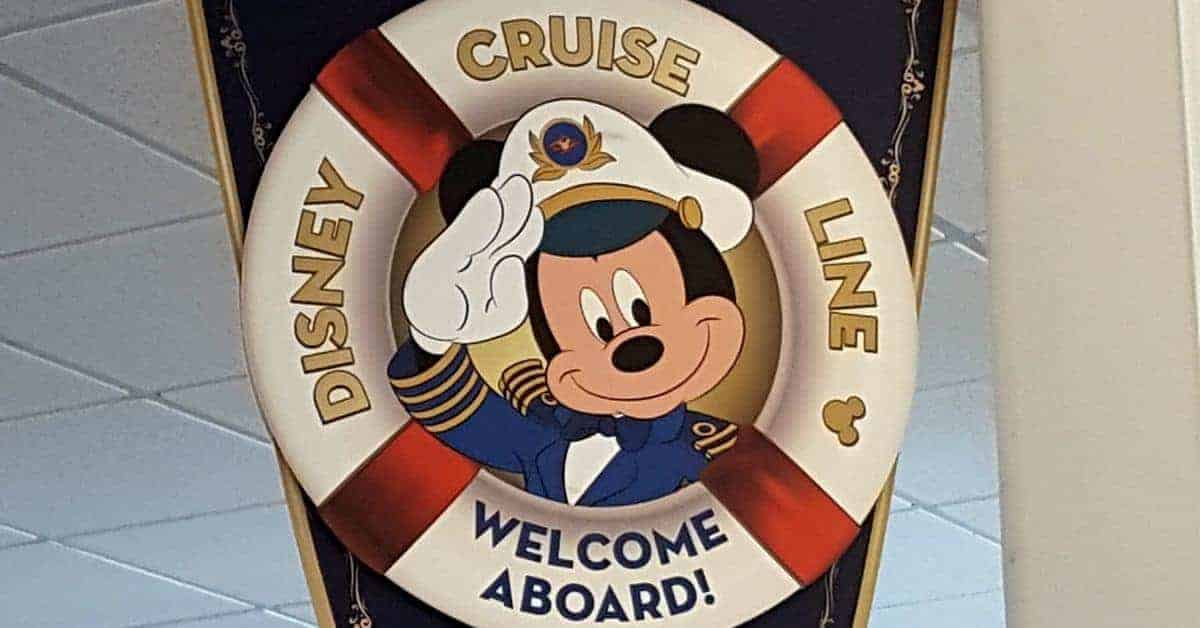 Welcome Aboard Disney Cruise Sign