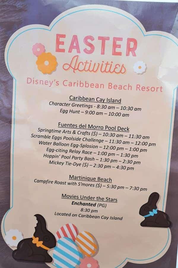 Easter Disney Resort Activities