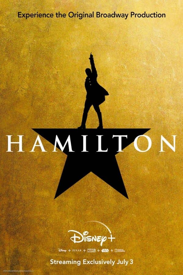 Hamilton is coming to Disney+ in July